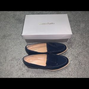FRANCO SARTO CYPRESS NAVY BLUE LOAFERS.
